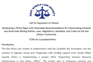 Call for Expression of Interest to Develop ASM Policy Brief for the EAC