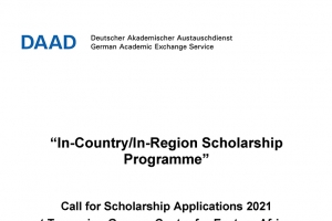 Final Call for Scholarship Applications-Ostafrika TGCL_2021